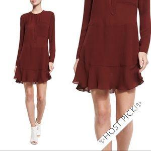 ✨HP!✨ NWT A.L.C. Burgundy Silk Dress - ALC 8 10